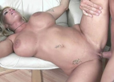 Slutty MILF Holly gets covered with jizz