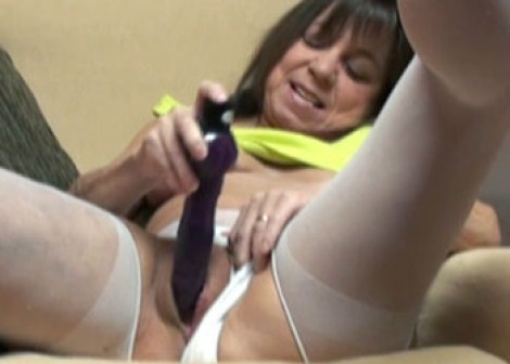 Vixen masturbates in panties